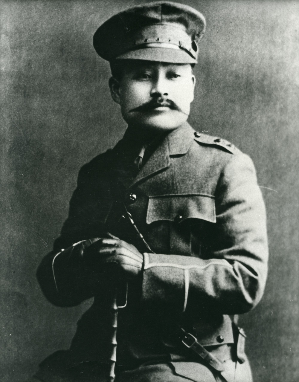 Yasushi Yamazaki in his Canadian army uniform, circa 1916. Yamazaki was made an honorary colonel for his role in organizing the Canadian Japanese Volunteer Corps. Japanese Canadian Cultural Centre 2005.1.1.26