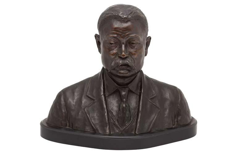Bronze bust of Yasushi Yamazaki, circa 20th century. Alfred Iwasaki collection, NNM 2016.22.1.1.1